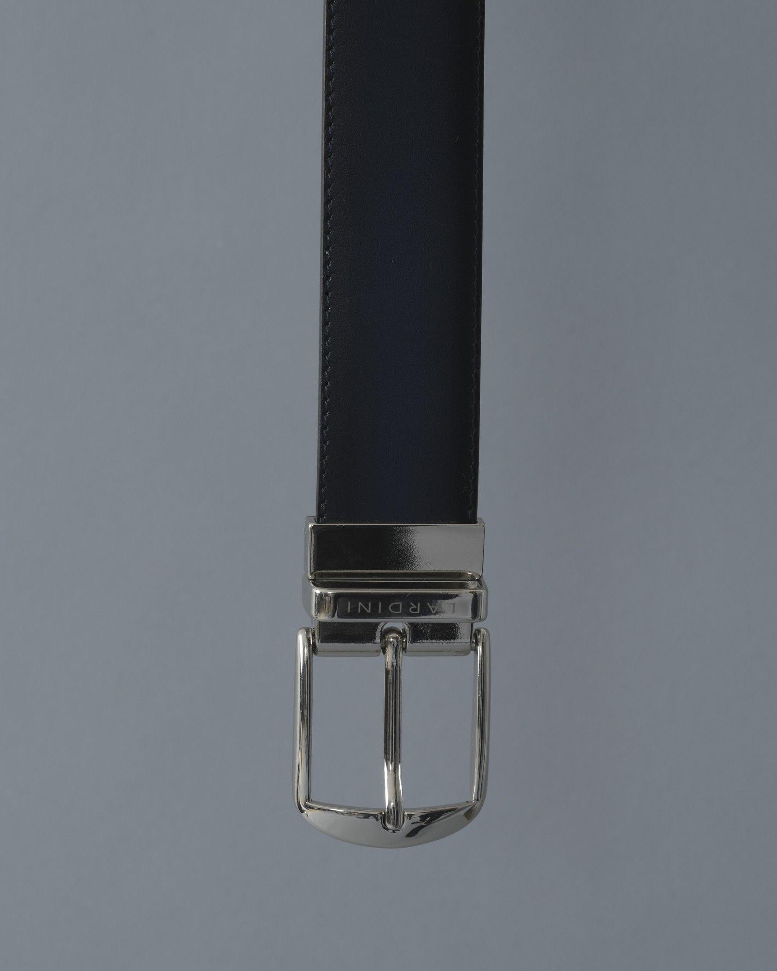 Ceinture bleu/noir Lardini