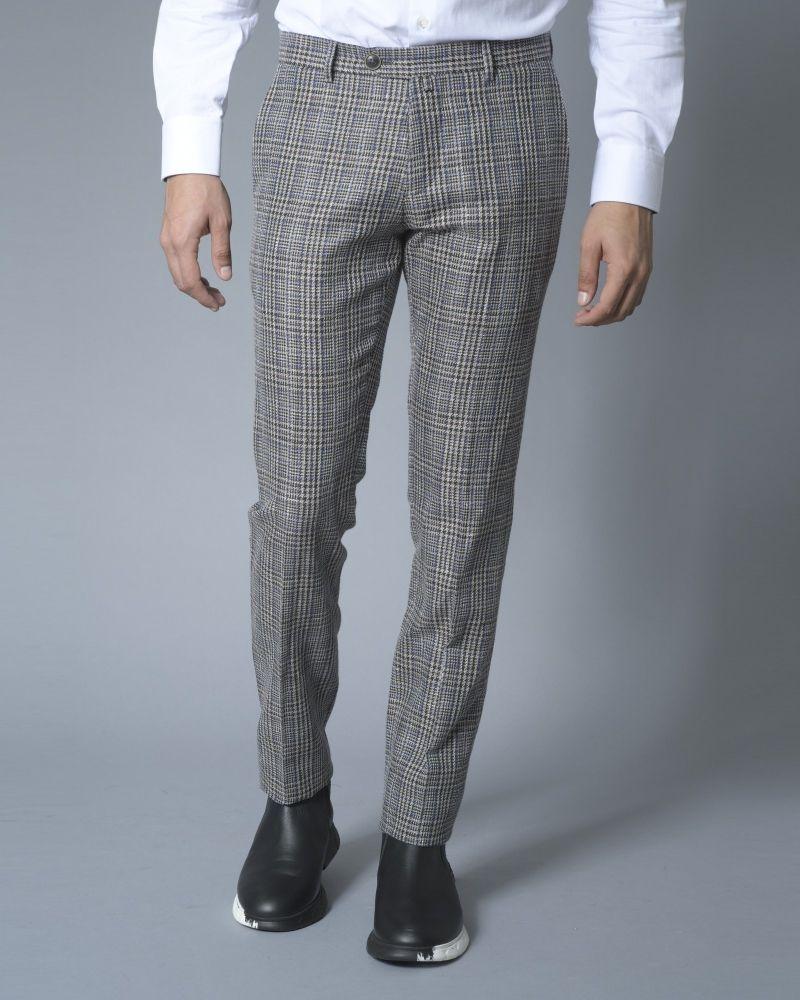 Pantalon droit à carreaux Ly Adams