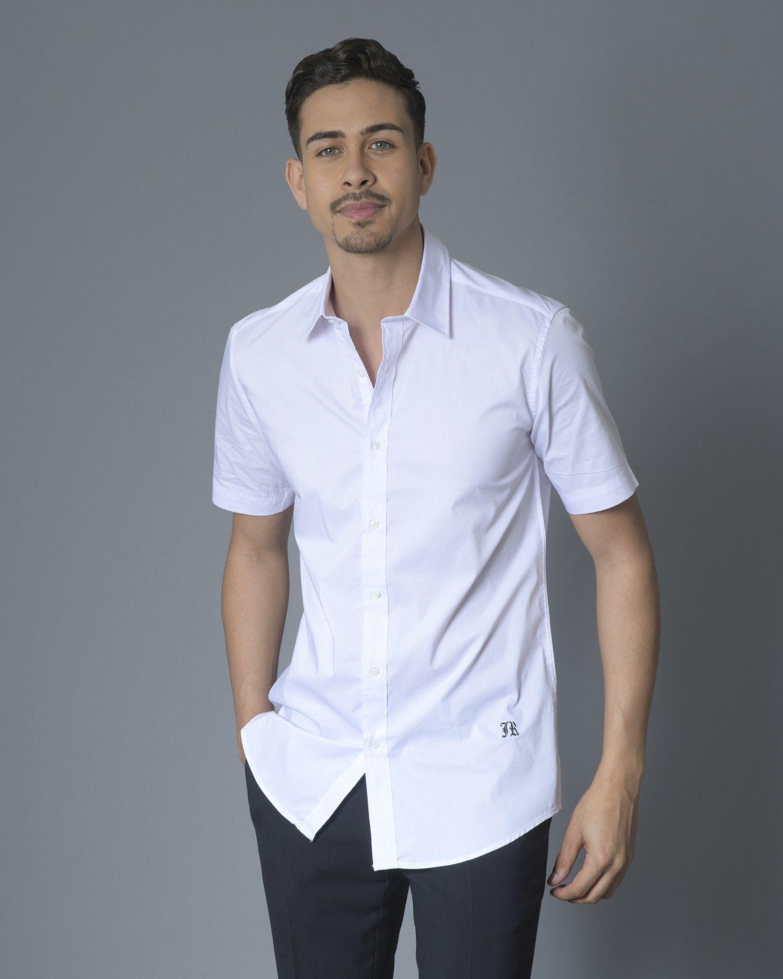 Chemise blanche manche courte John Richmond