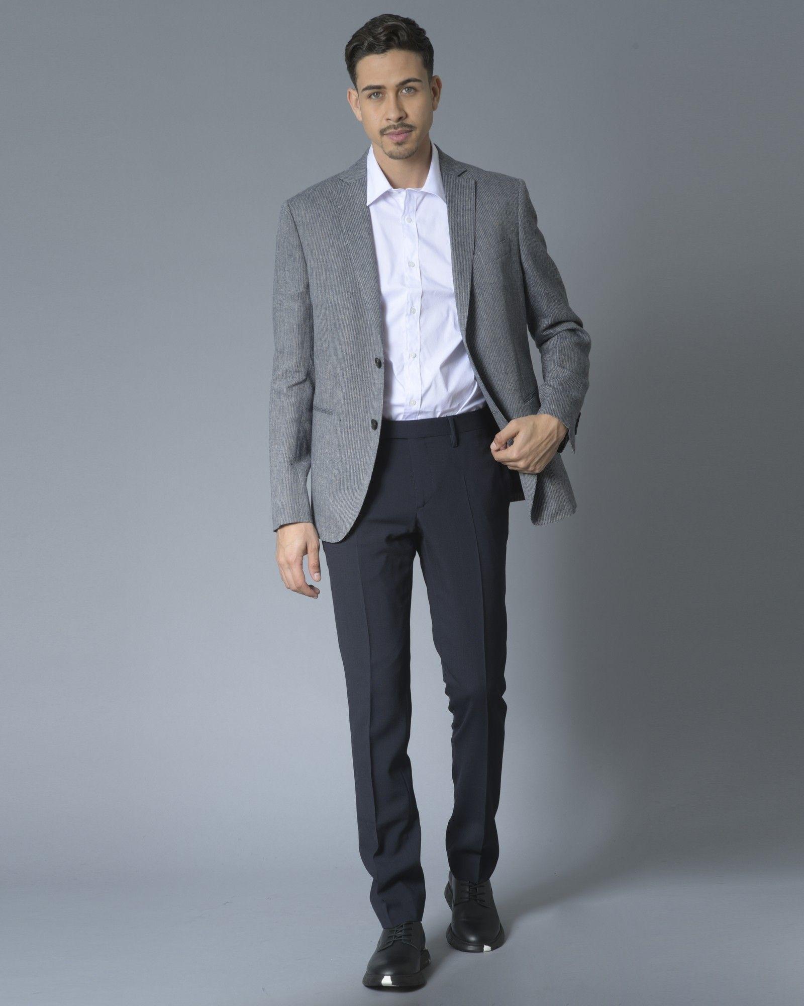 Pantalon en laine bleu Zadig & Voltaire