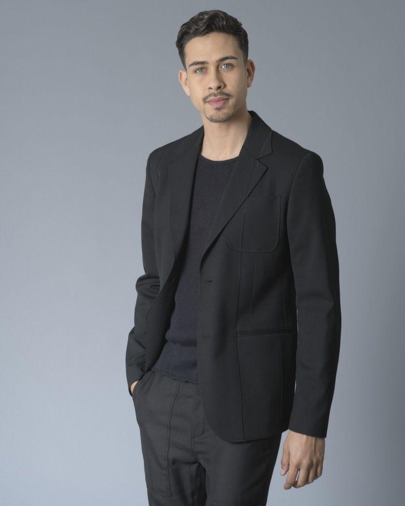 Veste à boutonnage simple et coutures apparentes Alexander McQueen