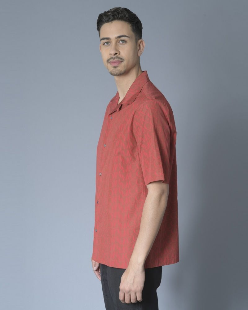 Chemise à motif à logo Alexander McQueen