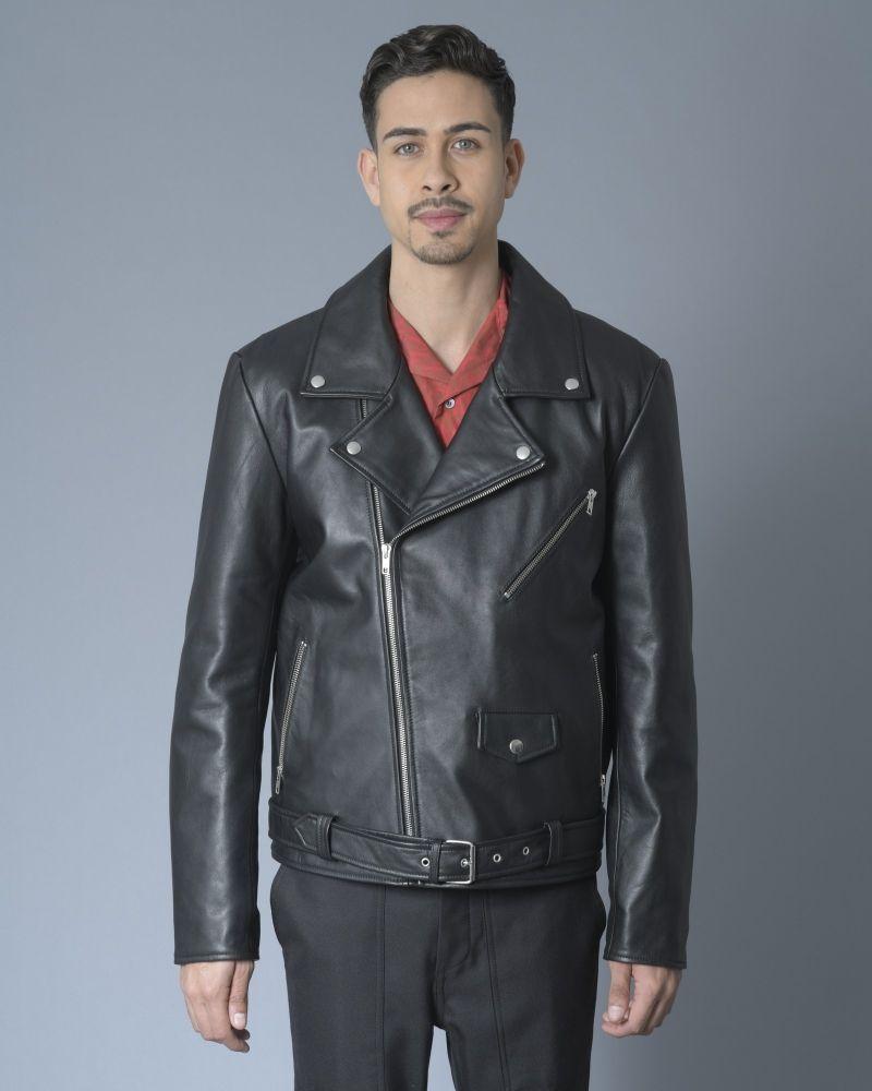 Perfecto en cuir noir Alexander McQueen