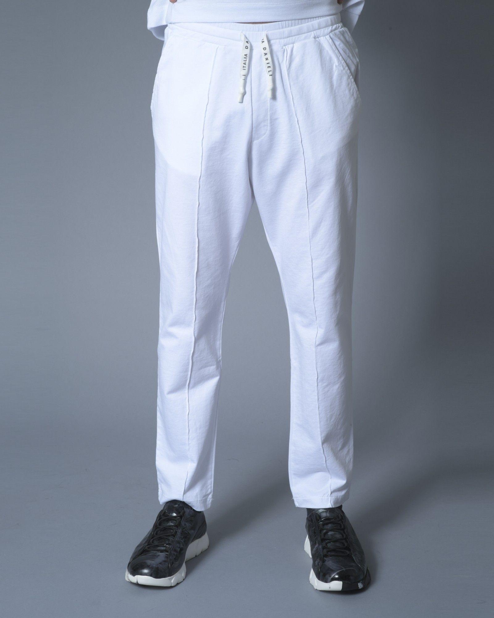 Pantalon jogger blanc Daniele Fiesoli