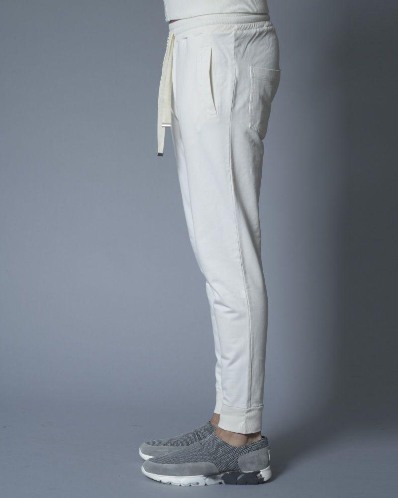 Pantalon de jogging en coton beige Daniele Fiesoli