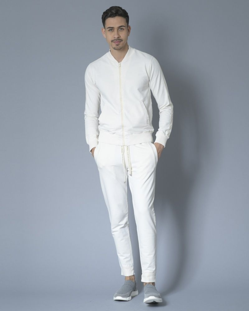 Veste de jogging zippée en jersey de coton Daniele Fiesoli
