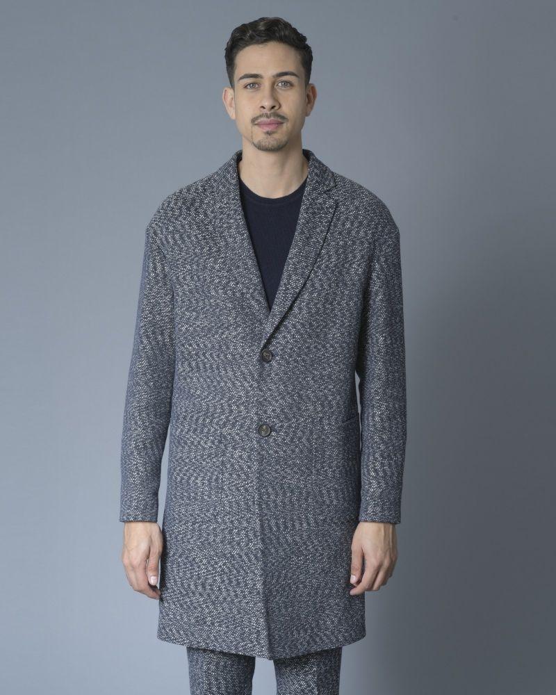 Manteau façon tweed bleu Ly Adams