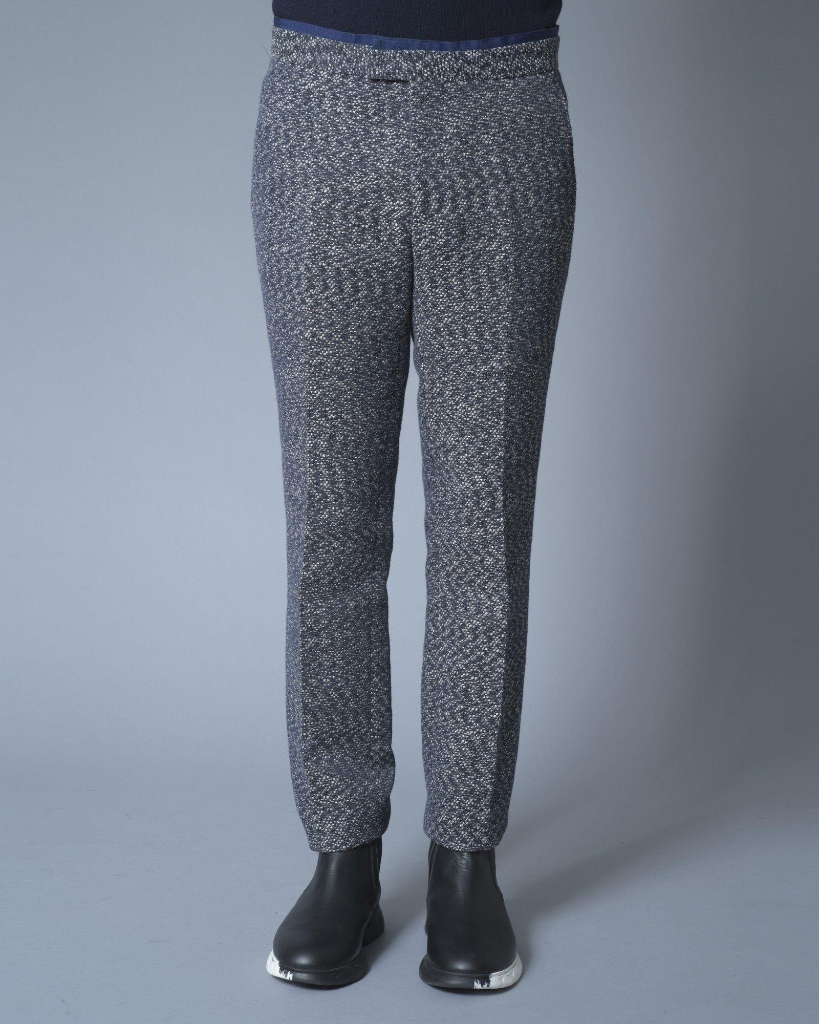 Pantalon façon tweed bleu Ly Adams