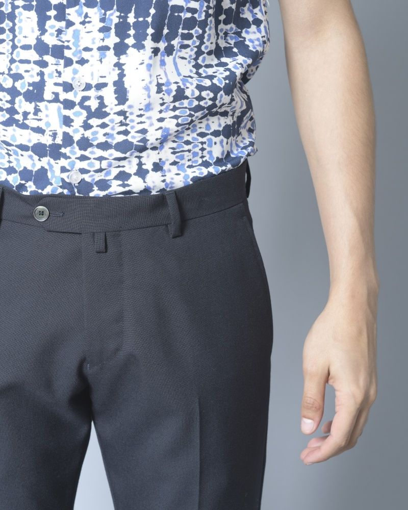 Pantalon en laine bleu Ly Adams