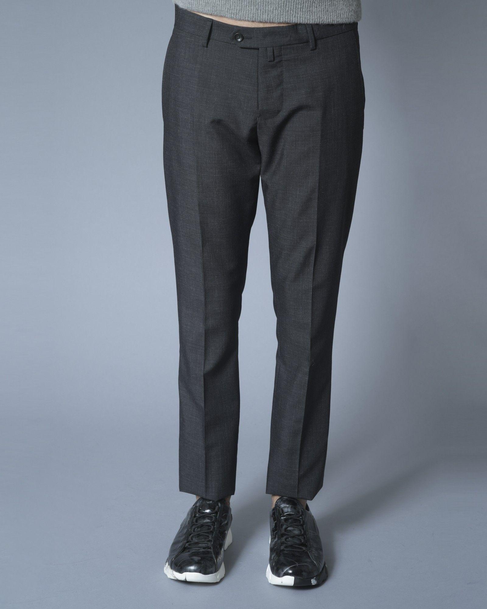 Pantalon tailleur en laine irisée grise Ly Adams
