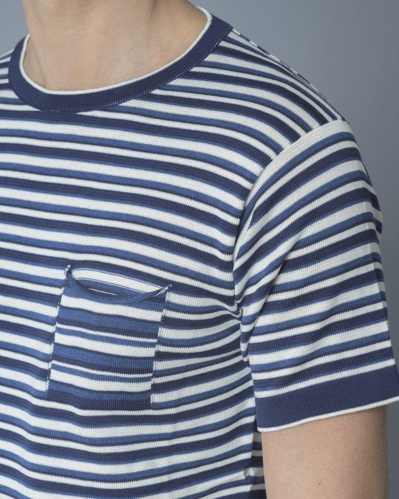 T-shirt en coton à rayures Daniele Fiesoli