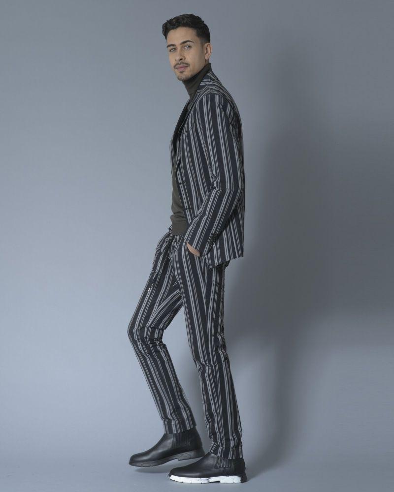 Veste noire rayée Ly Adams