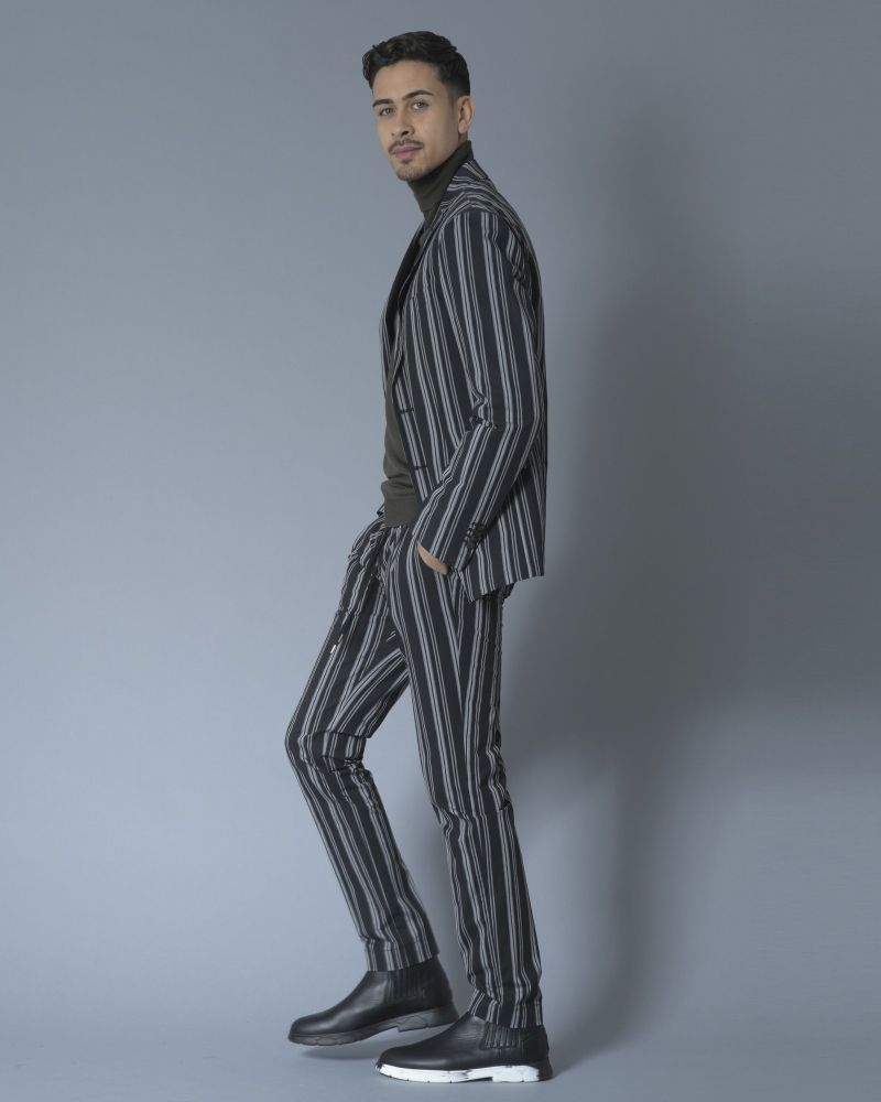 Pantalon en coton à rayures Ly Adams