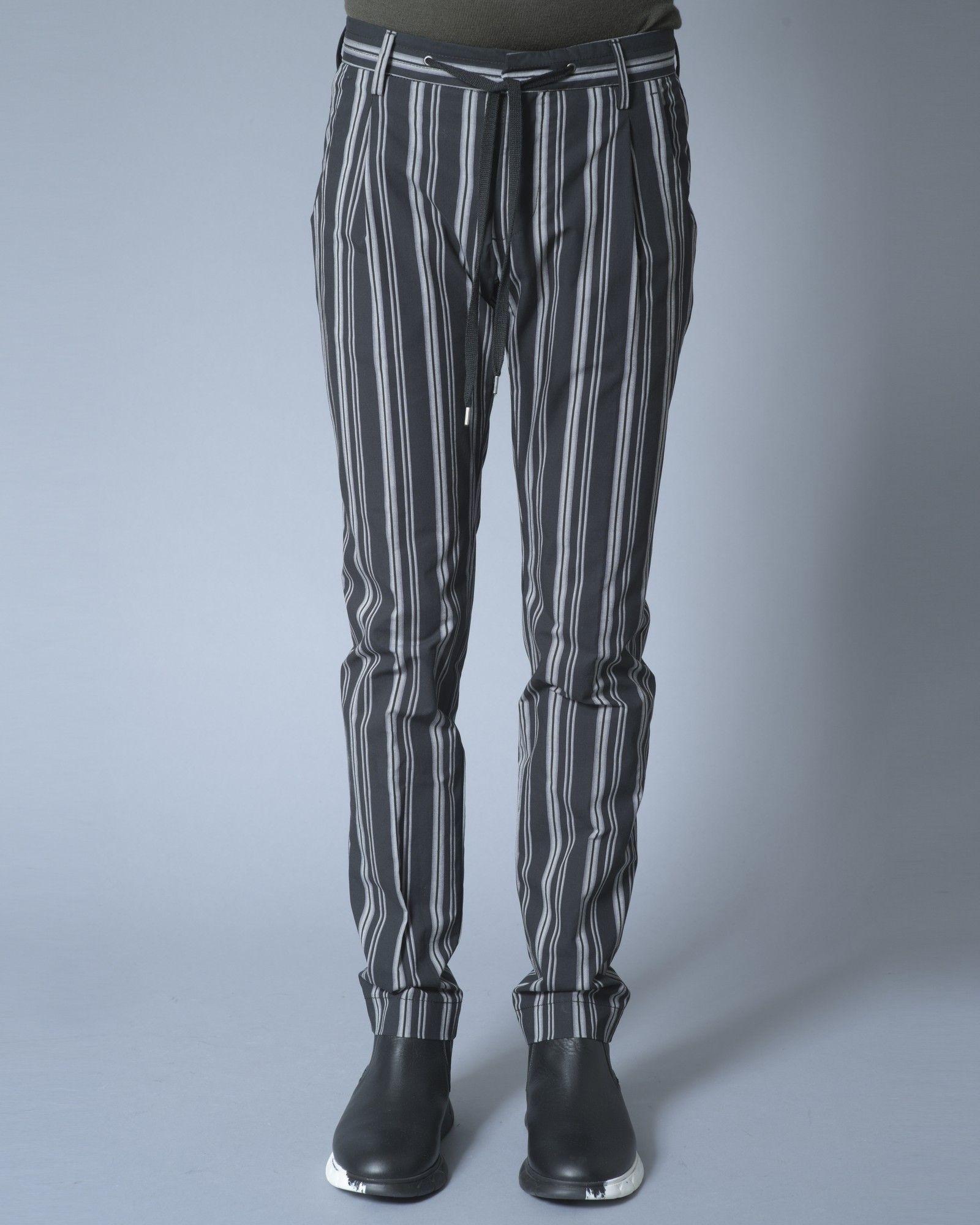 Pantalon Noir à rayures Ly Adams