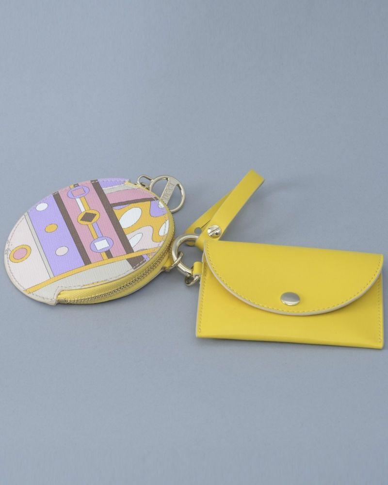 Porte Clés jaune/violet/rose/beige Emilio Pucci