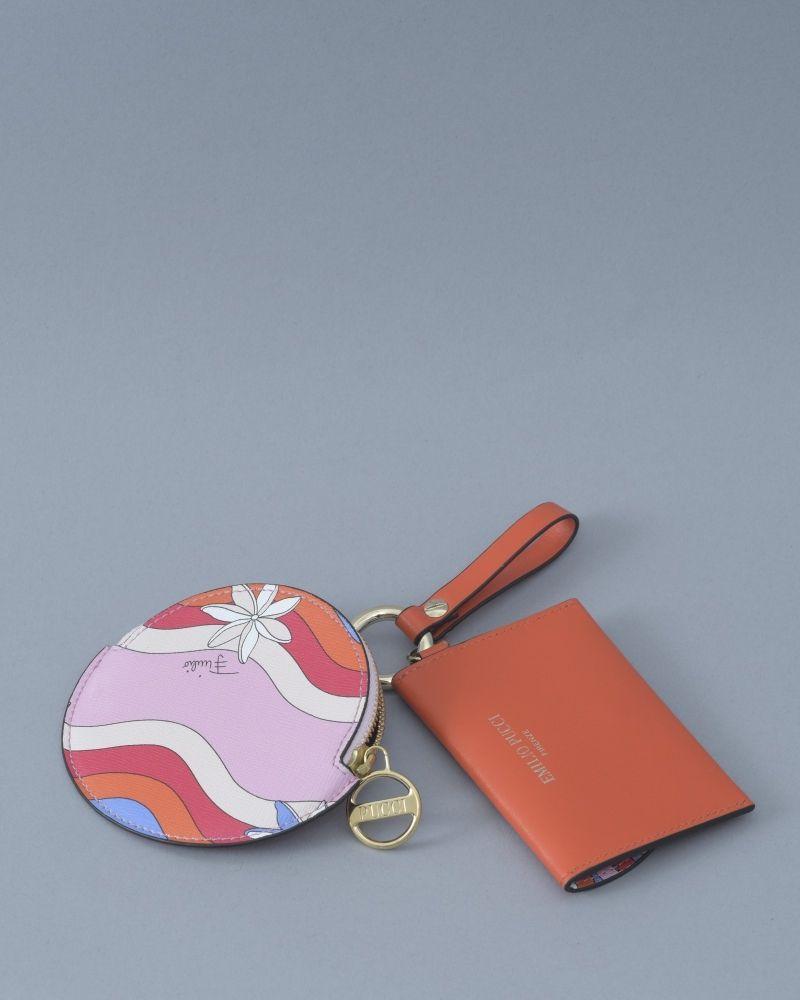 Porte Clés orange/rose/beige/blanc/noir Emilio Pucci