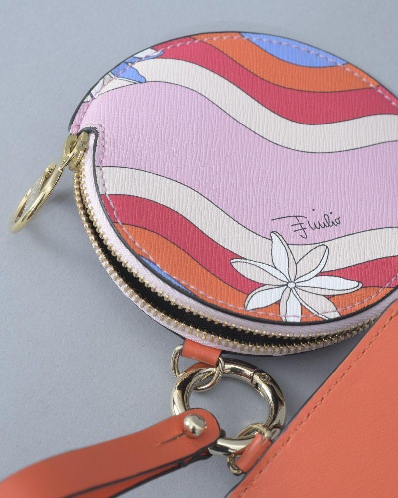 Porte-clés à motifs abstraits et fleuris Emilio Pucci