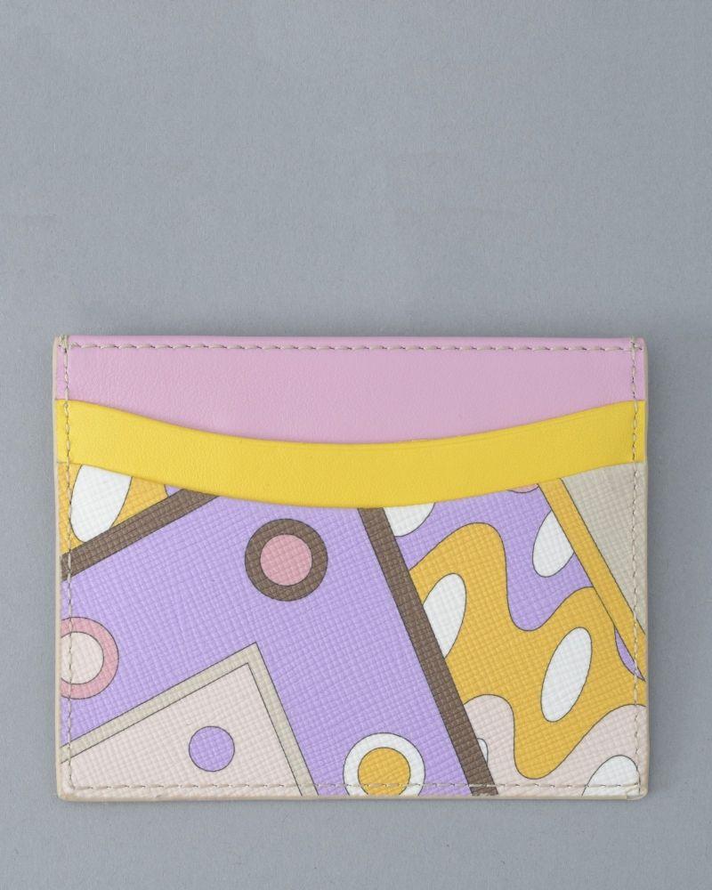 Porte-cartes à motifs géométriques Emilio Pucci