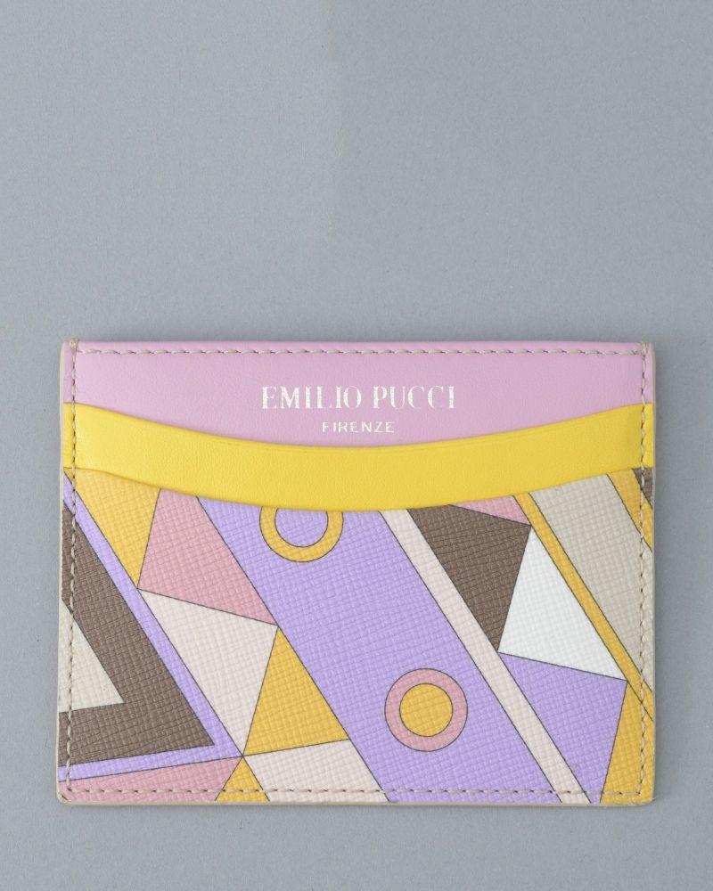 Portes cartes jaune/violet/rose Emilio Pucci