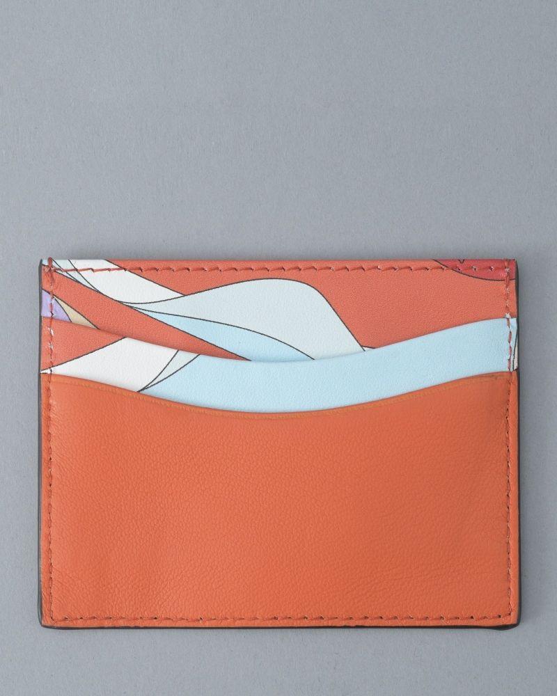 Porte-cartes à motif abstrait Emilio Pucci