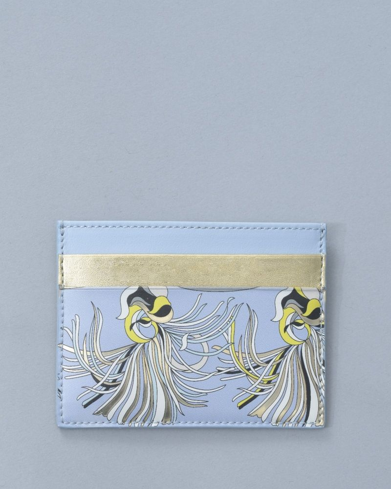 Portes Cartes bleu/or Emilio Pucci