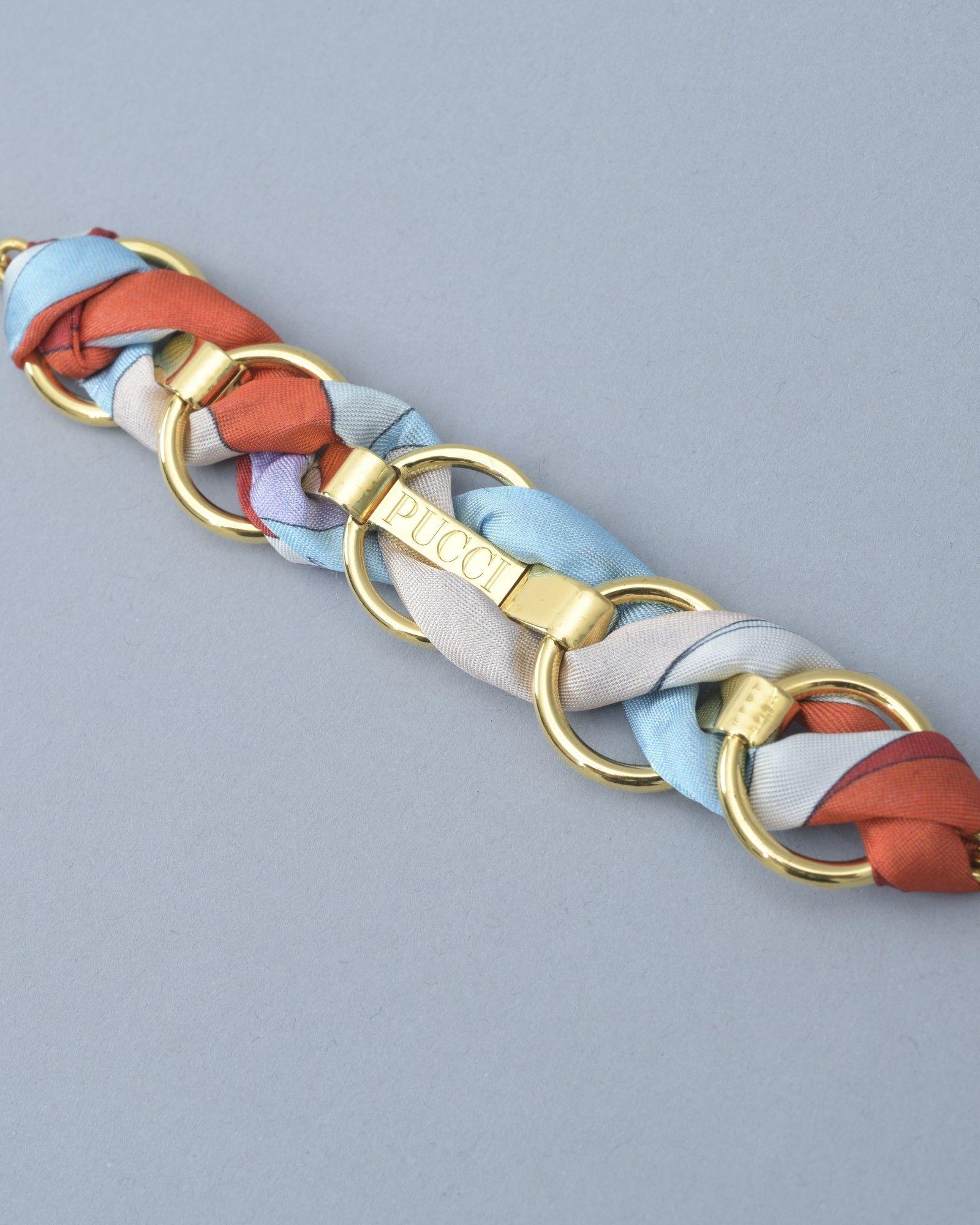 Bracelet or/rouge/bleu/beige Emilio Pucci