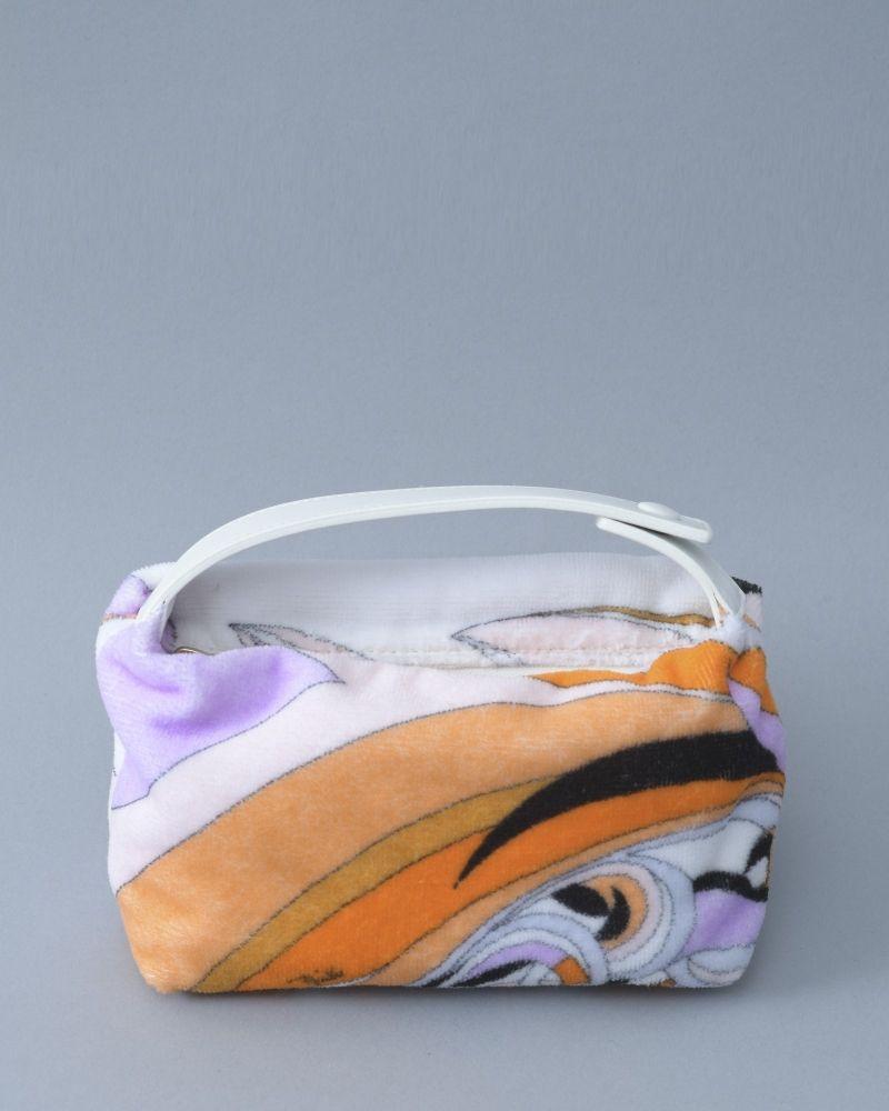 Porte Cosmétique blanc/saumon/violet/orange/noir Emilio Pucci