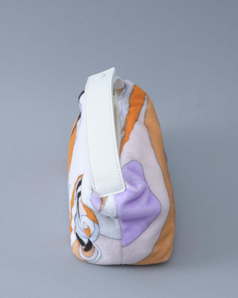 Pochette trousse en tissu éponge Emilio Pucci
