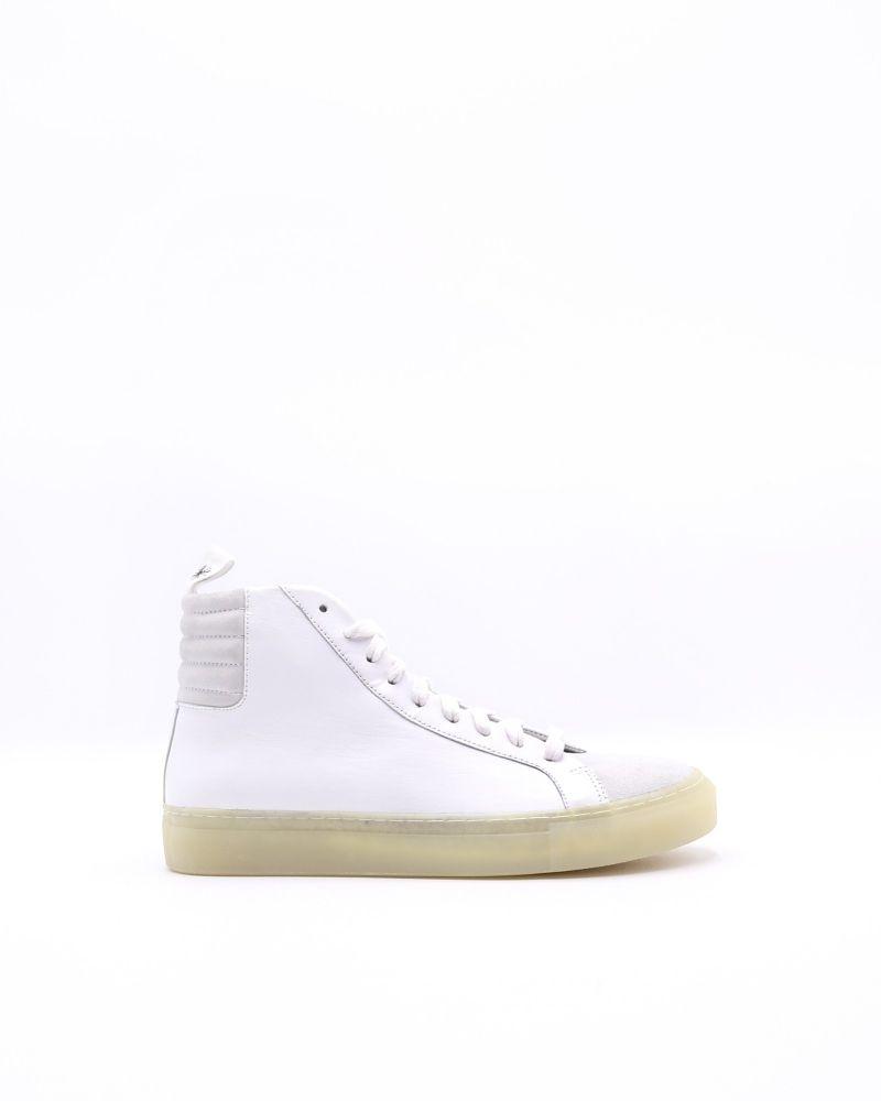 Basket montante bi matière (blanc) Damir Doma
