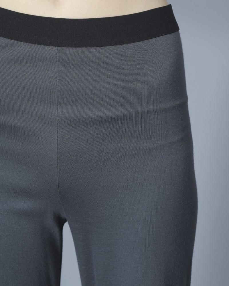 Pantalon en jersey gris à bande élastiquée Stefano Mortari