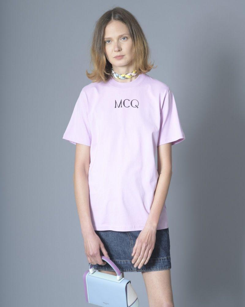 T-shirt en coton à imprimé violet Alexander McQueen