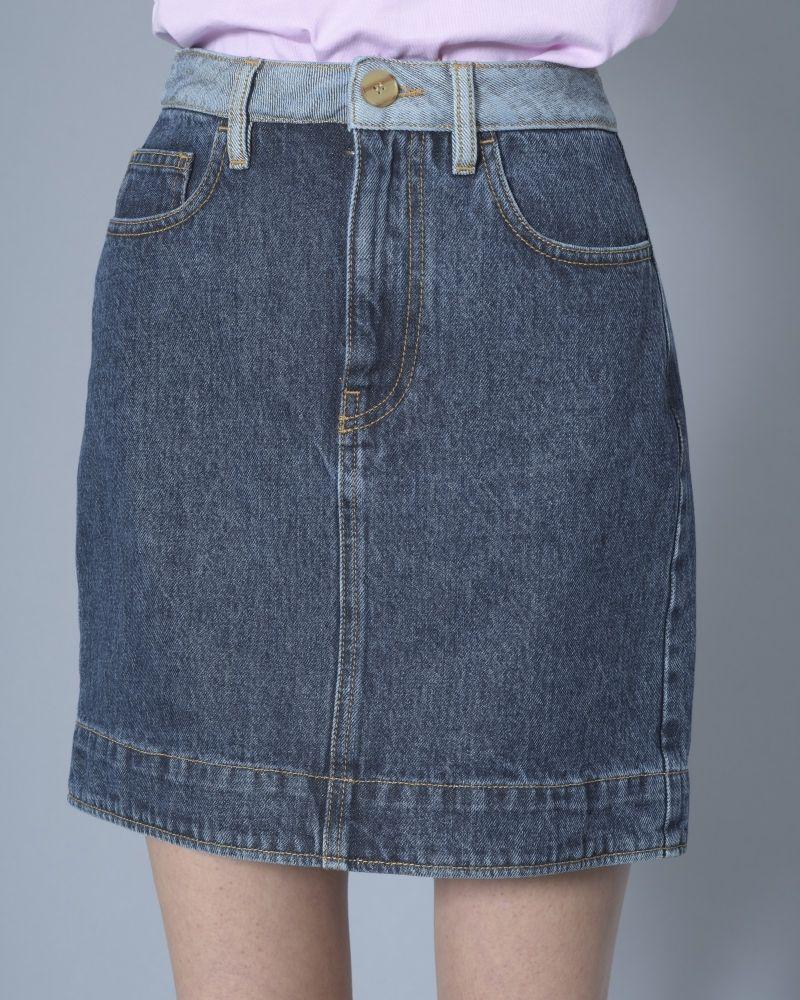 Jupe en jean bleu Alexander McQueen