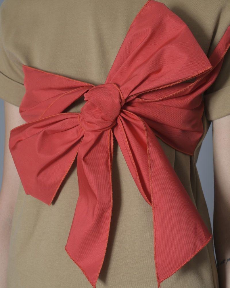 T-shirt en coton à noeud rouge Elisabetta Franchi