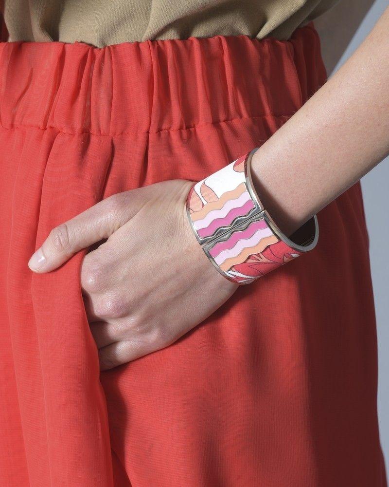 Bracelet Rose Blanc Rouge Emilio Pucci