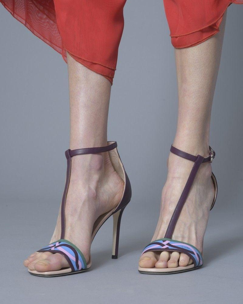 Sandales à talons en cuir Emilio Pucci