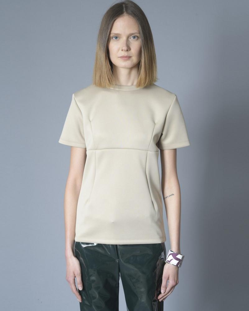 T-shirt beige à pinces John Galliano