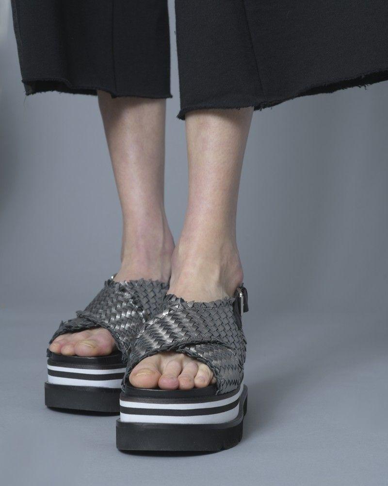 Sandales à plateforme en cuir tressé Casheart