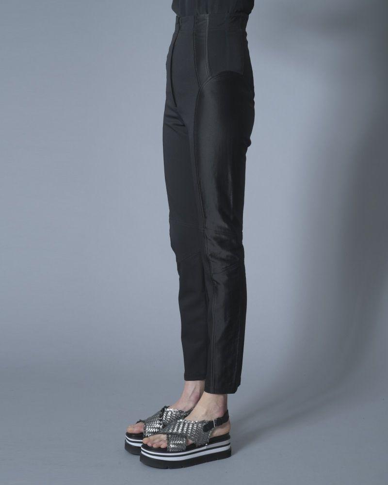 Pantalon en serge à empiècements satinés Plein Sud