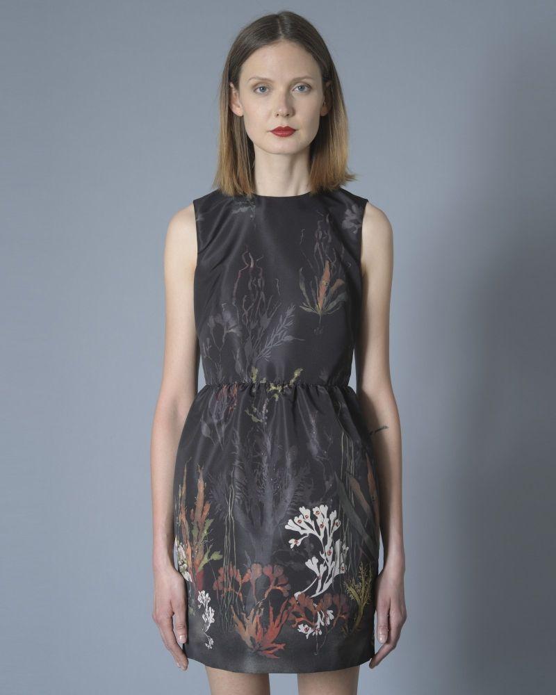 Robe Noire Fleurie Valentino