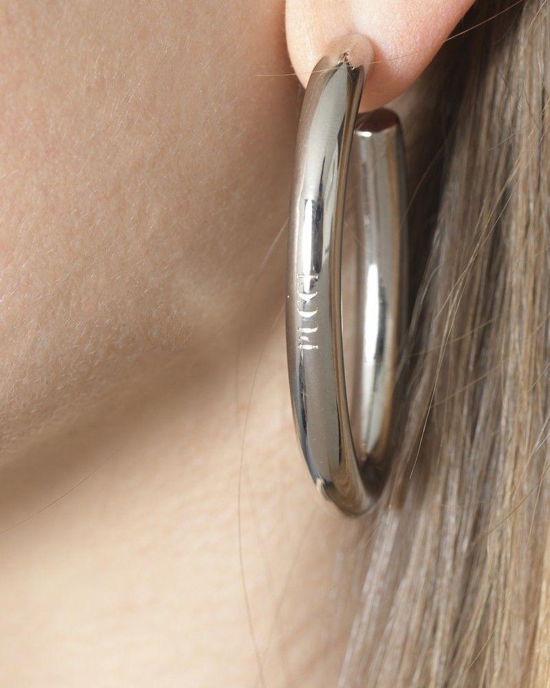 Boucles d'oreilles en plaqué argent Emilio Pucci