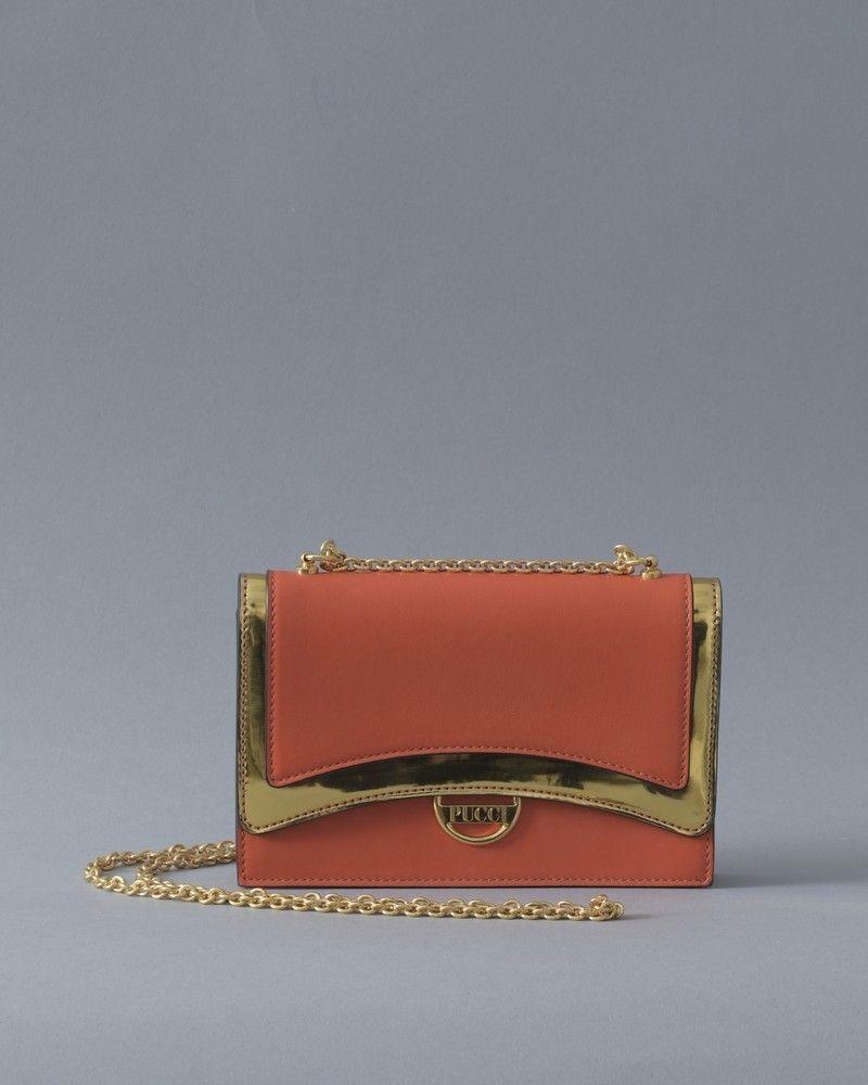 Mini sac à Main Orange Emilio Pucci