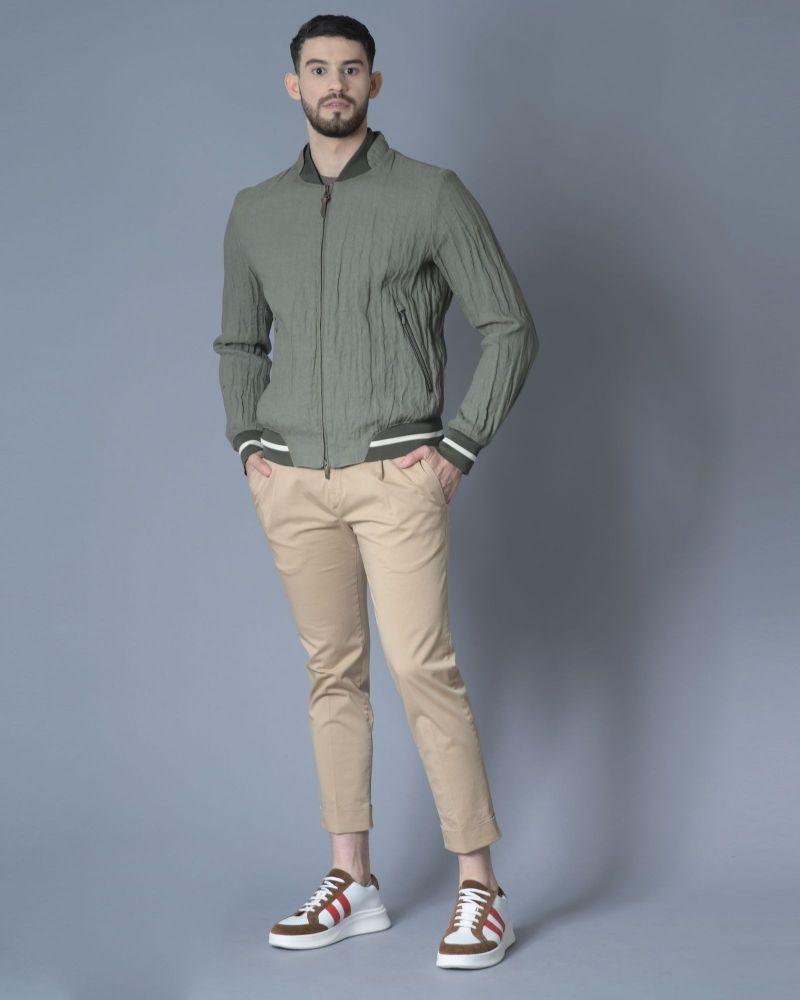Pantalon en coton et stretch plissé Not to be found