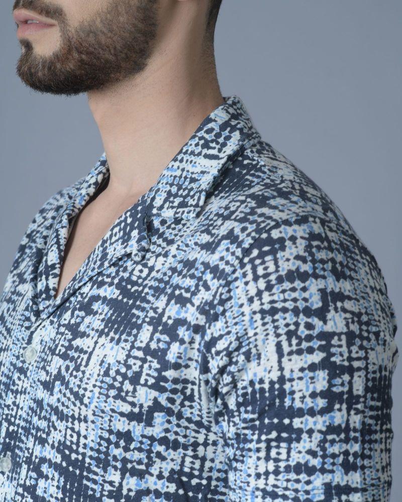 Chemise en coton à imprimé psychédélique Daniele Fiesoli