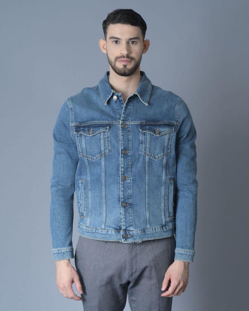 Veste en jean bleu 7 for All Mankind