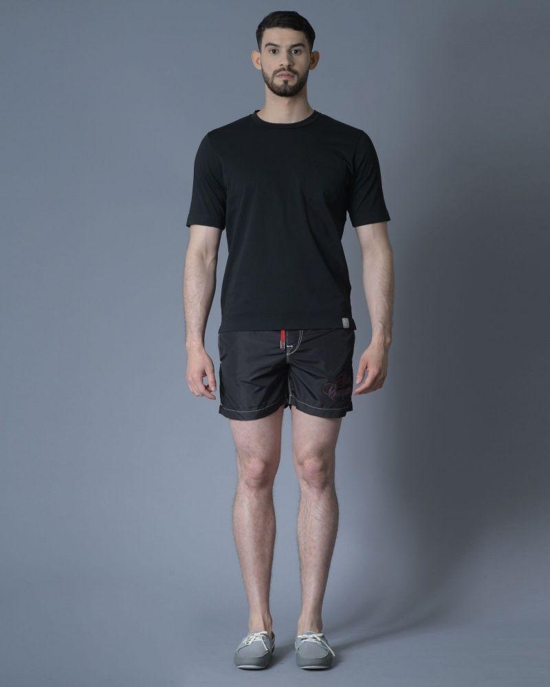 T-shirt en coton noir Daniele Fiesoli