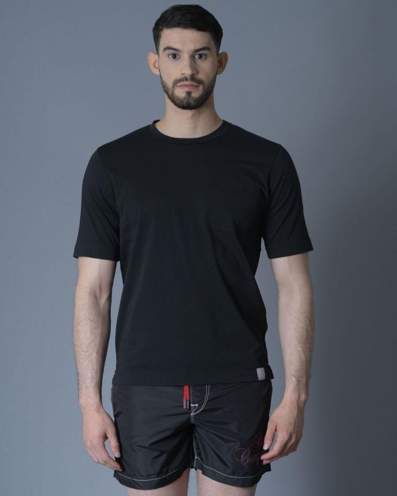 Tshirt Noir Poche Poitrine Daniele Fiesoli