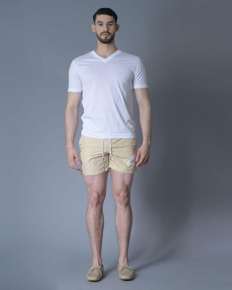 T-shirt en coton blanc Daniele Fiesoli
