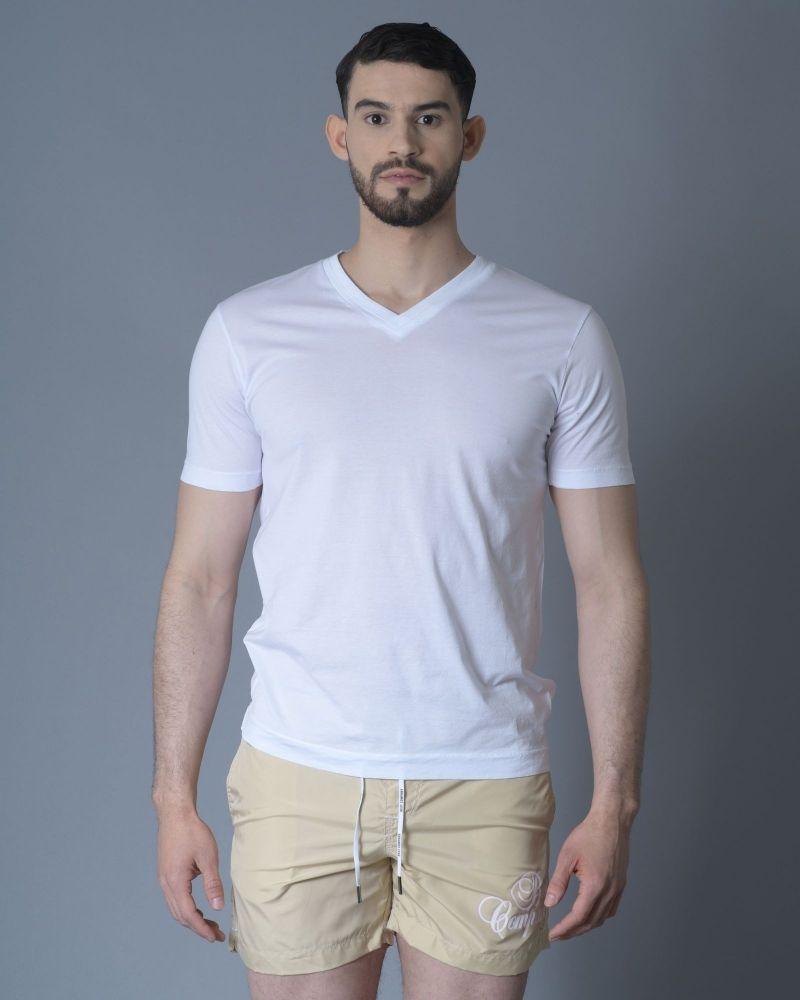 Tshirt Blanc col V Daniele Fiesoli