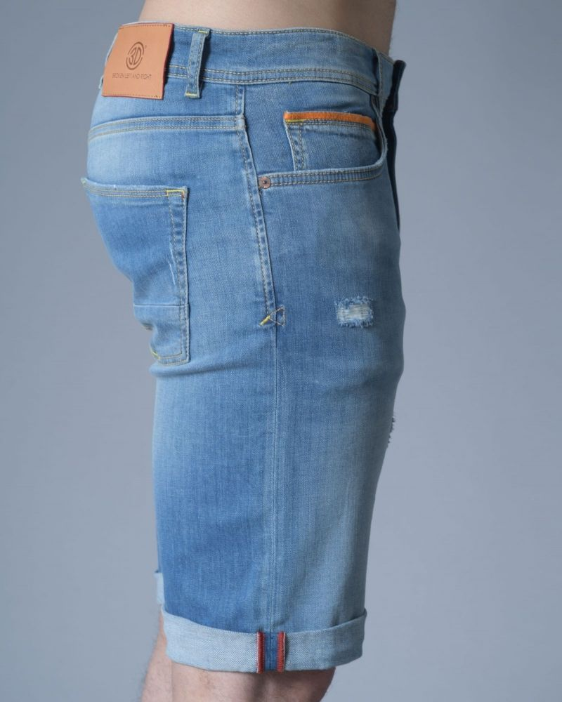 Short en jean bleu 3D