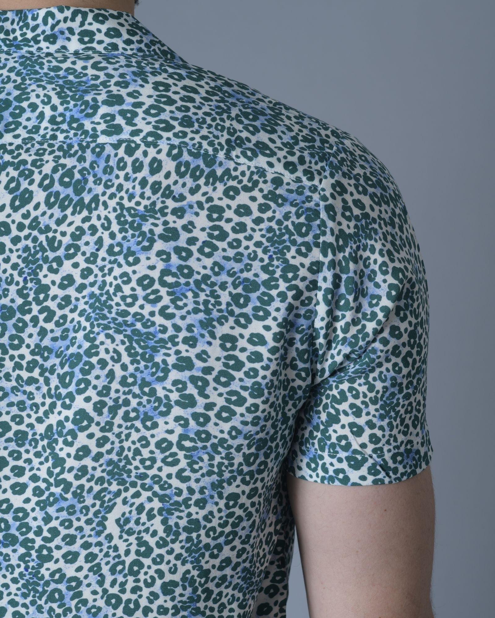 Chemise verte avec point Blanc Daniele Fiesoli